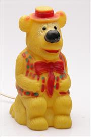 Sale 9060 - Lot 32 - Vintage Rubber Humphrey Bear Table Lamp Circa 1981 (H25cm)