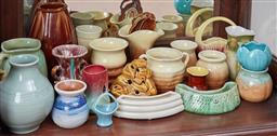 Sale 9103M - Lot 433 - A collection of pottery wares including Newtone.