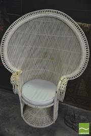 Sale 8352 - Lot 1009 - Cane Peacock Chair