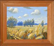 Sale 8394 - Lot 515 - Norman Lloyd (1897 - 1985) - Country Landscape 31.5 x 39.5cm
