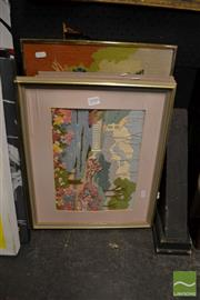 Sale 8464 - Lot 2090 - Four Framed Tapestries