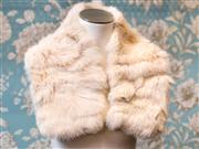 Sale 8474A - Lot 72 - A plush David Lawrence soft rabbit fur collar with satin lining, in very good condition, one size fits most