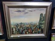 Sale 8544 - Lot 2014 - Artist Unknown, Cityscape, Oil, SLR, 44x53cm