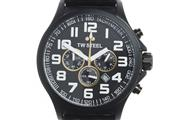 Sale 8605 - Lot 374 - TW STEEL PILOT LOTUS FI CHRONOGRAPH WRISTWATCH; ref; TW677 in PVD stainless steel, black dial, 3 subsidiary dials, date, outer tachy...