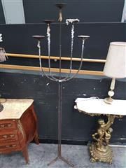 Sale 8669 - Lot 1003 - Wrought Iron Candelabra