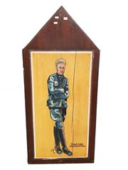 Sale 8809B - Lot 609 - Frank Luke. American Fighter Pilot Ace. 21 Victories. Hand Painted Double Sided Wall Plaque. L.M 74 (126 x 57cm)