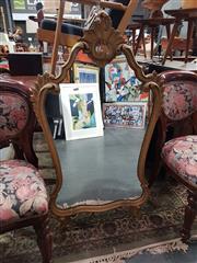 Sale 8863 - Lot 1034 - Gilt Framed Shield Shaped Mirror