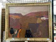 Sale 8891 - Lot 2026 - Artist Unknown - Landscape, oil on panel, 46.5 x 56.5 cm, unsigned