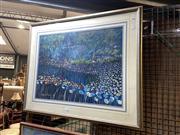 Sale 8895 - Lot 2046 - Gerald Flynn - Flowerfield Blue, 1992, framed pastel, signed and dated lower left