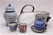 Sale 9052 - Lot 392 - French Crystal Carafe (chip to lip) with a Collection of Ceramics incl. Blue & White Wares