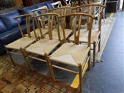 Sale 7943A - Lot 1520 - Highback Wishbone Chair x 6