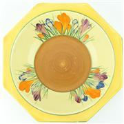 Sale 8332 - Lot 16 - Clarice Cliff Crocus Octagonal Dish
