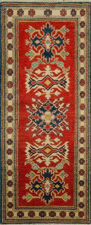 Sale 8380C - Lot 52 - Afghan Kazak 166cm x 68cm