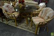 Sale 8520 - Lot 1083 - Cane 5 Piece Patio Suite