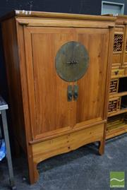 Sale 8523 - Lot 1011 - Two Door Chinese Cabinet