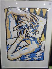 Sale 8557 - Lot 2012 - Peter King - Insomnia, 1985 82 x 62cm