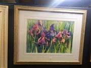 Sale 8650 - Lot 2027 - Marijke Greenway - Iris, watercolour, 35 x 50cm, signed lower right