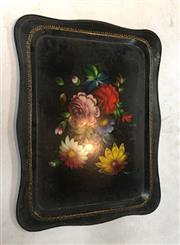Sale 8789 - Lot 2286A - Painted Serving Tray Depicting Still Life of Flowers