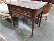 Sale 8868 - Lot 1038 - George II Oak Side Table, with single drawer, on club legs with pad feet. Ex Bonhams & Goodman