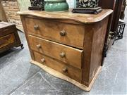 Sale 8896 - Lot 1056 - Low Lying Chest of Three Drawers