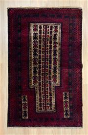 Sale 8559C - Lot 80 - Persian Baluchi 148cm x 85cm