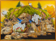 Sale 8677B - Lot 567 - Stephen Nothling, Land of Plenty, oil on canvas, diptych, ex Eva Breuer Gallery, 163 x 225cm , signed and dated 09 lower right