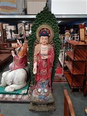 Sale 8700 - Lot 1032 - Large Fibreglass Chinese Figure