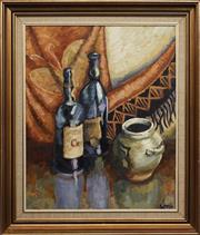 Sale 8762 - Lot 2027 - Irina Little - Bottles and Jug 60 x 50cm