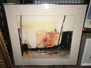 Sale 8776 - Lot 2059 - Susan Sheridan - Urban Landscape watercolour, 61 x 67cm (frame) signed lower right -