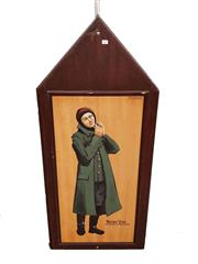 Sale 8809B - Lot 611 - Werner Voss. German Fighter Pilot Ace of 58 Victories. Hand Painted Double Sided Wall Plaque. B.R Moss (126 x 57cm)