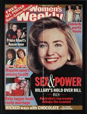 Sale 8836 - Lot 2065 - (3 WORKS) Womens Weekly March 1998, Sex and Power, Hillarys Hold over Bill...print, 54 x 40.5cm; Phantasm Comes Again, daybill pos...