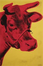 Sale 8938A - Lot 5006 - Andy Warhol (1928 - 1987) - Cow 61 x 40.5cm (frame: 90 x 68cm)