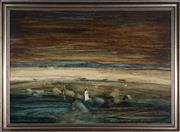 Sale 9047A - Lot 5012 - Ken Johnson (1950 - ) - The Cotswold Lady, 1972 59.5 x 90 cm (frame: 70 x 101 x 5 cm)