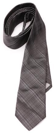 Sale 9080F - Lot 77 - AN EMPORIO ARMANI MANS TIE; charcoal black 100% silk narrow tie.
