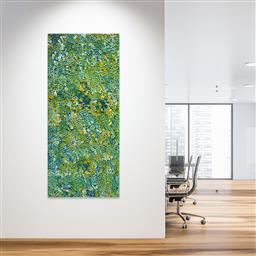 Sale 9128A - Lot 5052 - Belinda Golder Kngwarreye (1986 - ) - Bush Plum Dreaming 199 x 87 cm (stretched and ready to hang)