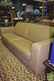 Sale 8390 - Lot 1170 - Tan Leather 2 Seater Lounge