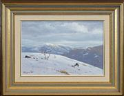 Sale 8443 - Lot 600 - David Brayshaw (1960 - ) (2 works) - Mountain Scenes, 1983 19 x 29cm, each