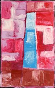 Sale 8791A - Lot 5033 - Kudditji Kngwarreye (c1928 - 2017) - My Country 166 x 107cm (stretched and ready to hang)