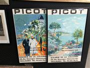 Sale 8674 - Lot 2052 - Pair of Jean-Claude Picot Exhibition Posters, colour lithographs