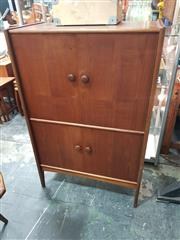 Sale 8782 - Lot 1069 - Younger Teak Cocktail Cabinet with 4 Panel Doors and Fitted Interior
