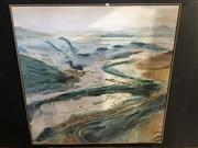 Sale 8750 - Lot 2056 - Artist Unknown - Abstract Landscape, mixed media work, 123 x 122cm