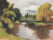 Sale 8821 - Lot 516 - Roland Wakelin (1887 - 1971) - Park Scene, 1948 24 x 32cm