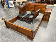 Sale 8893 - Lot 1044 - Bed Ensemble inc Queen and Pair of Three Drawer Bedsides