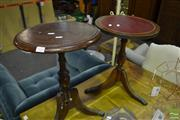 Sale 8472 - Lot 1026 - Wine Tables x 2