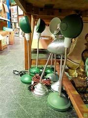 Sale 8582 - Lot 2186 - 5 Green Standing Lamps with 2 Others (7)