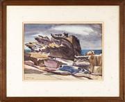 Sale 8590A - Lot 72 - Hal Missingham - Storm Rocks, July 1946