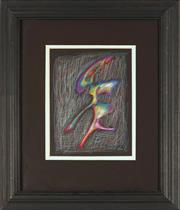 Sale 8797 - Lot 2024A - Rafael Gurvich - Succculent Shimmering Shapes 3 20 x 16.5cm