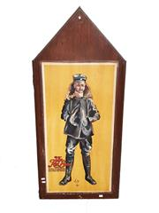 Sale 8809B - Lot 613 - The Red Baron. Manfred Von Richthofen. Ace of Fighter Pilot Aces with 80 Victories. Hand Painted Double Sided Wall Plaque. L.M 74 (1...