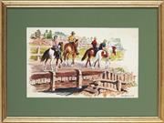 Sale 8949 - Lot 2058 - Cedric Emanuel (1906-1995) - Horse Riding on the Scone Farm 33 x 37 cm (frame: 41 x 52 x 2 cm)
