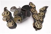 Sale 9052 - Lot 387 - Five Vintage Horse Brasses